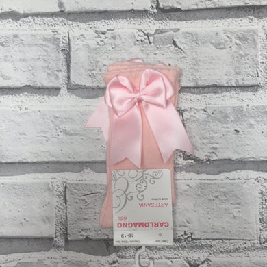 Baby pink Bow Knee High
