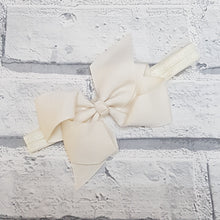 Load image into Gallery viewer, Cream Hair Bow