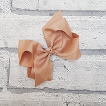 Load image into Gallery viewer, Tan Hair Bow