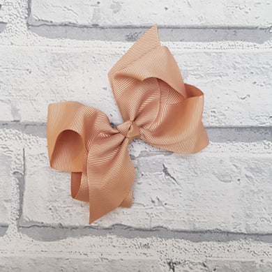 Tan Hair Bow