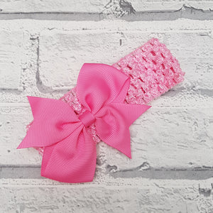 Dark Pink Hair Bow