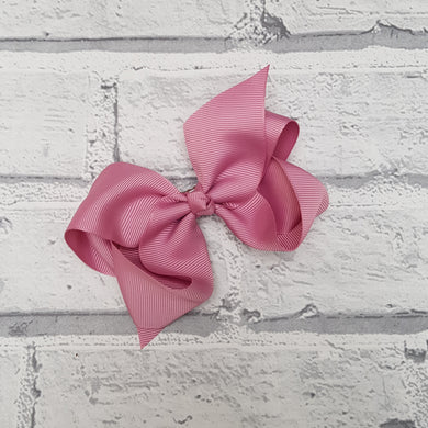 Dusky Pink Hair Bow