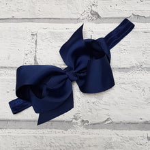 Load image into Gallery viewer, Navy Hair Bow