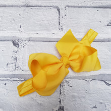 Load image into Gallery viewer, Yellow Hair Bow