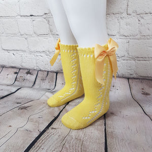 Yellow Bow Knee High
