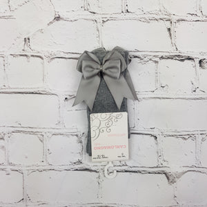Light Grey Bow Knee High