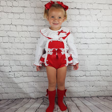 Load image into Gallery viewer, WM Red And White Romper Set