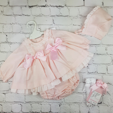 WM Pink Double Bow Dress