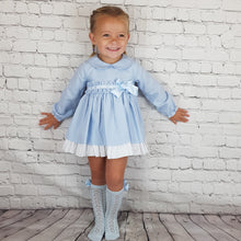 Load image into Gallery viewer, WM Blue Puffball Dress