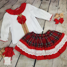 Load image into Gallery viewer, WM Red Tartan skirt Set