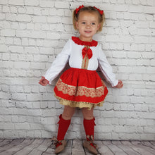 Load image into Gallery viewer, WM Red And Tan Skirt Set