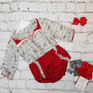 Ceyber Grey And Red Jam Set