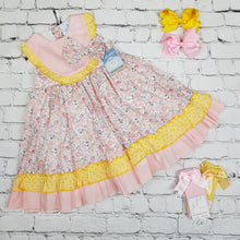 Load image into Gallery viewer, Ceyber Girls Pink And Lemon Dress