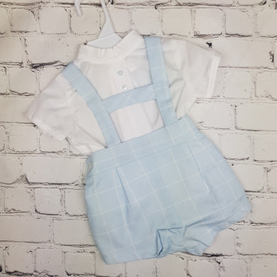 Baby Ferr Blue Check H-Bar Set