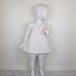 Baby Ferr Pink Polka Baby Dress Set