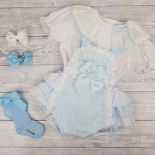 Load image into Gallery viewer, WM Blue Romper Set
