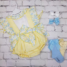 Load image into Gallery viewer, WM Lemon And Blue Romper Set