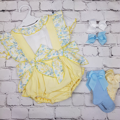 WM Lemon And Blue Romper Set
