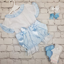 Load image into Gallery viewer, WM Blue Double Bow Bloomer Set