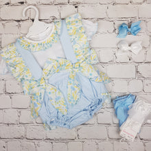 Load image into Gallery viewer, WM Blue And Lemon Romper Set