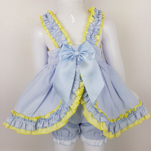 WM Blue And Lemon Bloomer Set