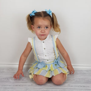 Dbb Lemon And Blue Baby Girls Romper