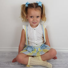 Load image into Gallery viewer, Dbb Lemon And Blue Baby Girls Romper