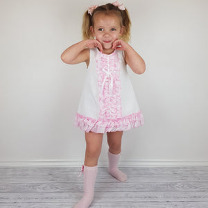 WM Pink Check Bloomer Set