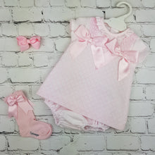 Load image into Gallery viewer, WM Pink Double Bow Dress