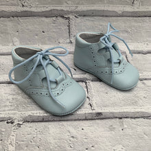 Load image into Gallery viewer, Blue Soft Leather Pram Shoes