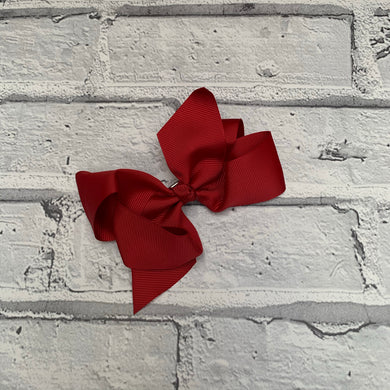 Burgundy Hair Bow