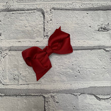 Load image into Gallery viewer, Burgundy Hair Bow
