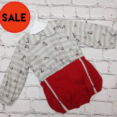 CLEARANCE Ceyber Red And Grey Short Set