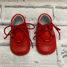 Load image into Gallery viewer, Red Soft Leather Pram Shoes