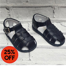 Load image into Gallery viewer, Aladino Navy Caged Baby Sandal