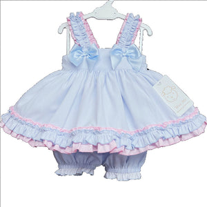 WM Blue And Pink Bloomer Set