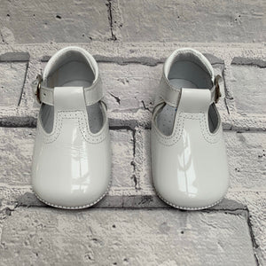 White T-Bar Pram Shoe
