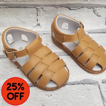 Load image into Gallery viewer, Aladino Caged Baby Sandal Tan