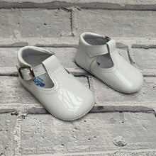 Load image into Gallery viewer, White T-Bar Pram Shoe