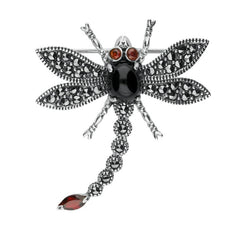 sterling-silver-whitby-jet-marcasite-and-garnet-dragonfly-brooch