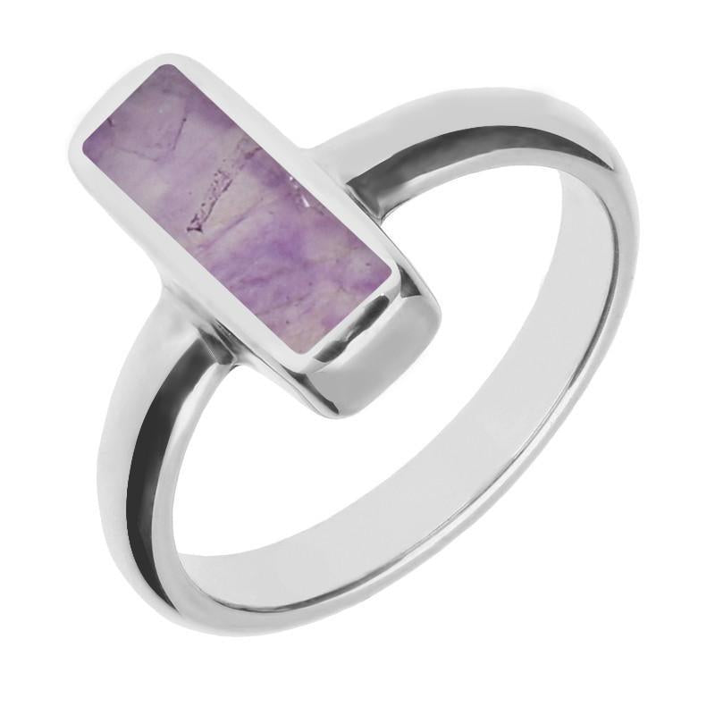 Sterling Silver Blue John Dinky Oblong Ring