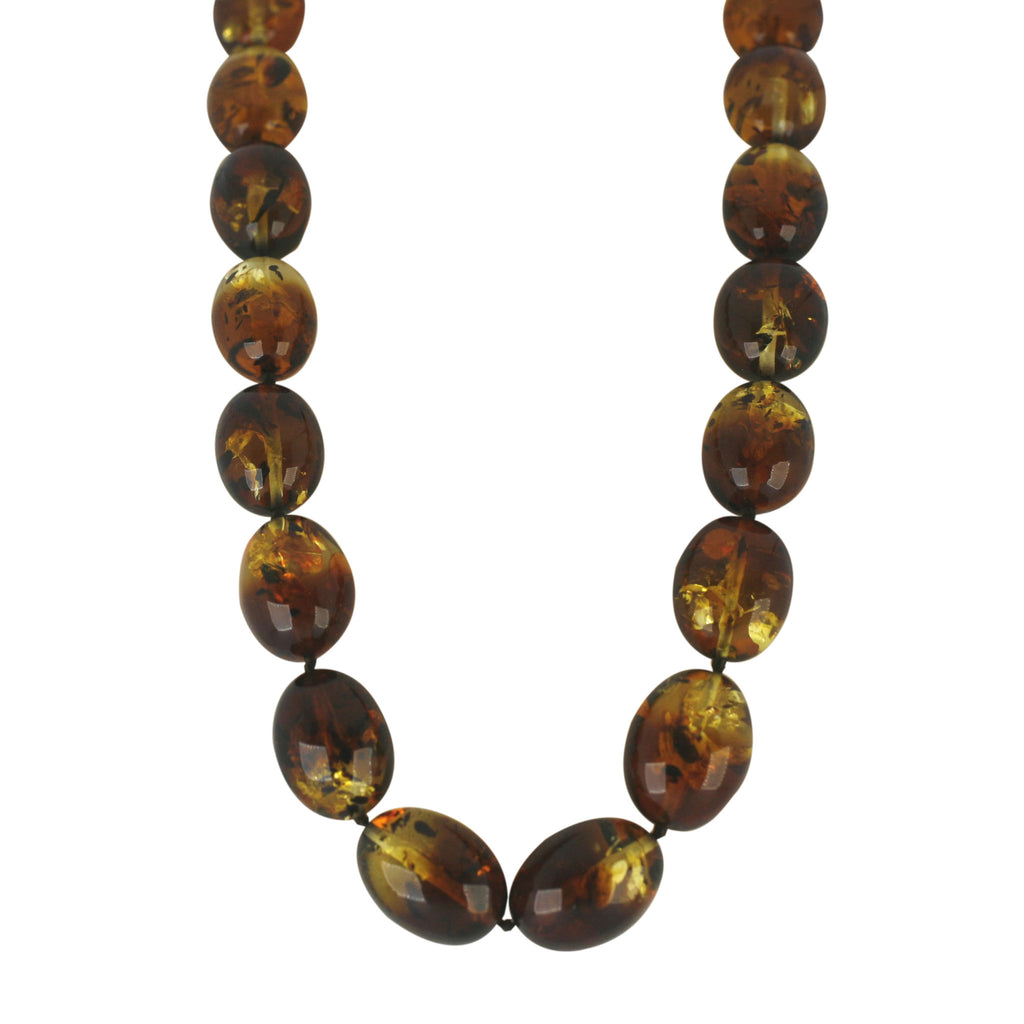 Necklace Amber Smooth Beaded