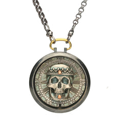 Rewind Skull Pocket Watch Necklace