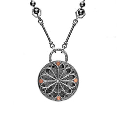 Rewind Double Decker Cathedral Window Necklace
