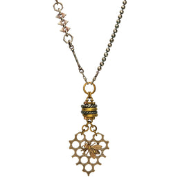 00179785 W Hamond Valkyrie Honeycomb Heart Necklace  N1080