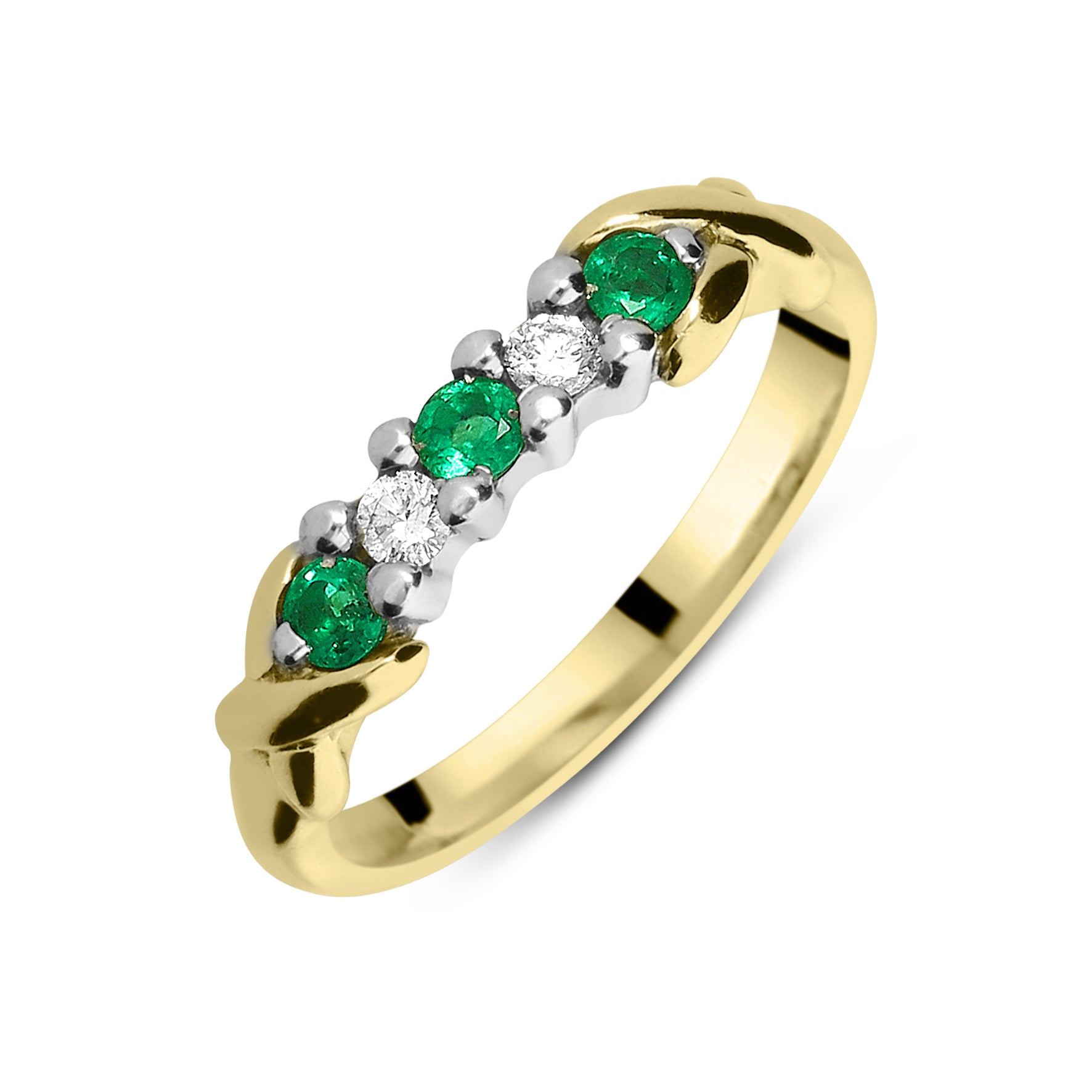 the x em half hamond dia ring products yg w gold et band eternity emerald copy yellow diamond bands