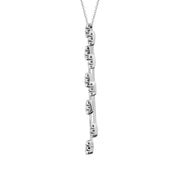 18ct White Gold Diamond Double Drop Necklace, RS11