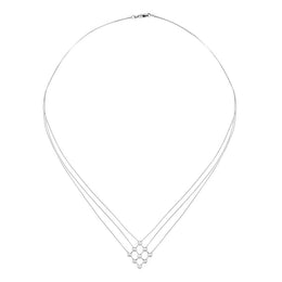 18ct White Gold Diamond Wire Strand Necklet, 1947_03