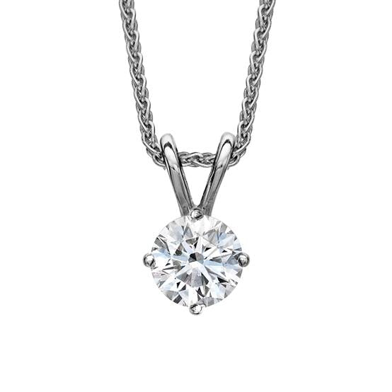 18ct White Gold 0.15 Carat Diamond Solitaire Pendant Necklace