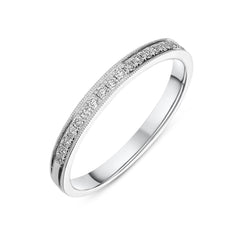 18ct White Gold 0.16ct Diamond Channel Set Half Eternity Ring